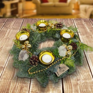 adventskranz-gold